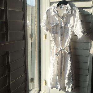 White linen Chico's dress
